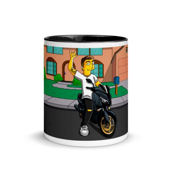 white ceramic mug with color inside black 11oz front 601704e916334
