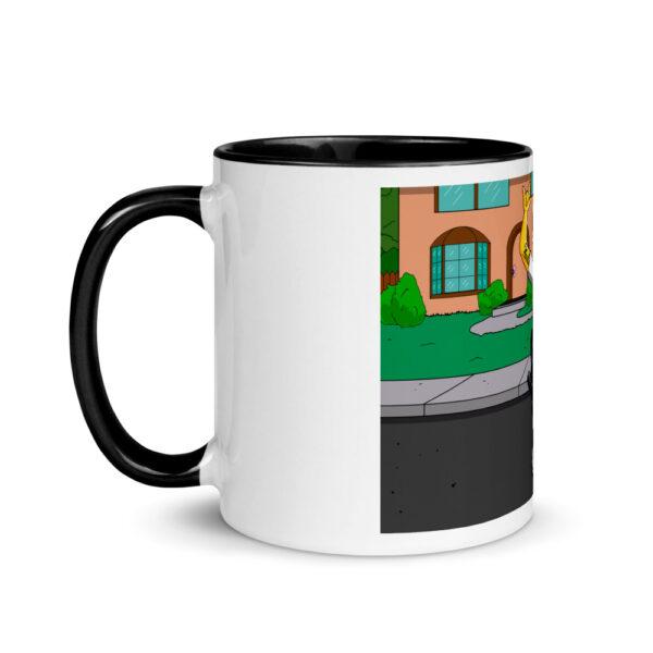 white ceramic mug with color inside black 11oz left 601704e91638e