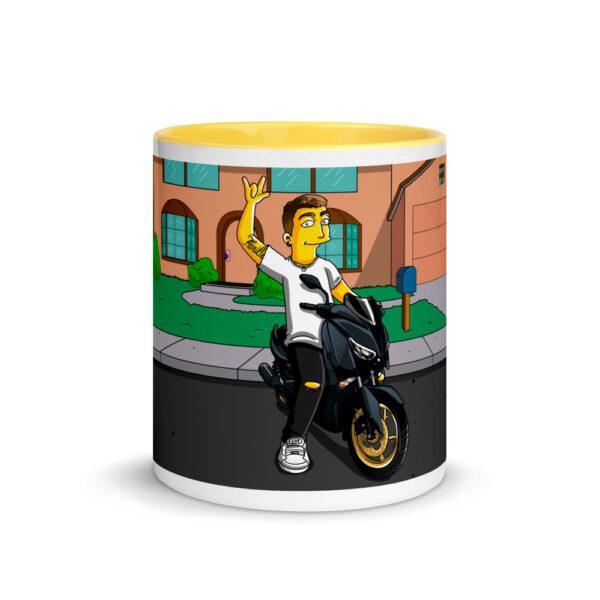 white ceramic mug with color inside yellow 11oz front 601704e91601f