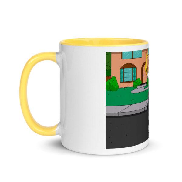 white ceramic mug with color inside yellow 11oz left 601704e91645c
