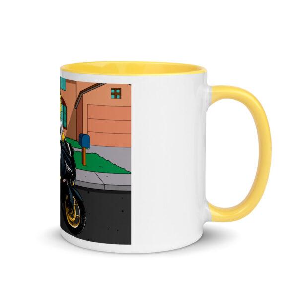 white ceramic mug with color inside yellow 11oz right 601704e91640e